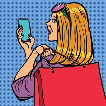 woman buyer online sale