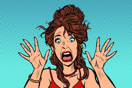 funny scared woman human emotion
