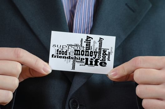 Money word cloud business concept