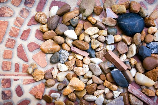 Collection of Various Pebbles for the Garden