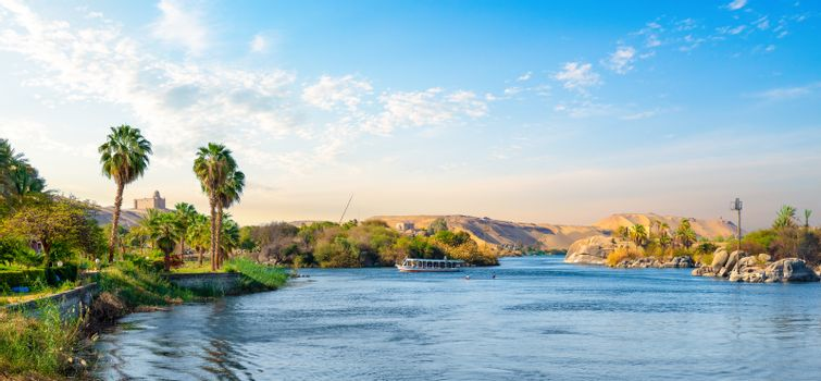 Panorama of Nile river