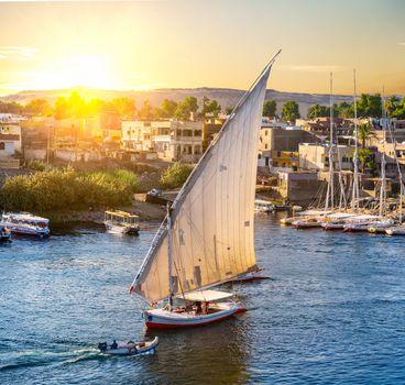 Sailboat in Aswan