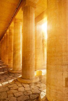 Temple columns Hatshepsut