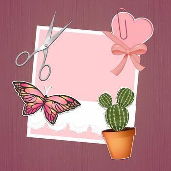 illustration of scrapbook style