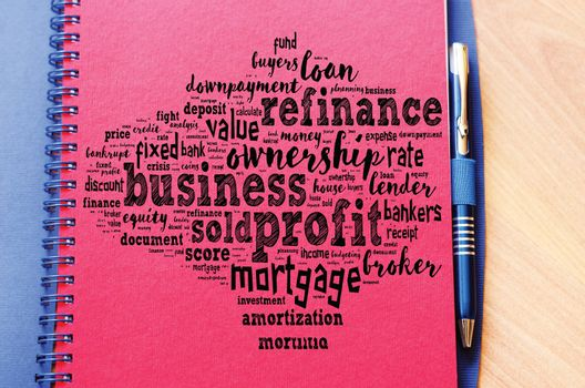 Profit word cloud collage