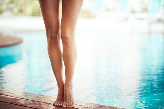 Woman on the beach resort