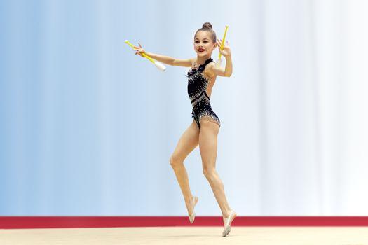 Little talented gymnast