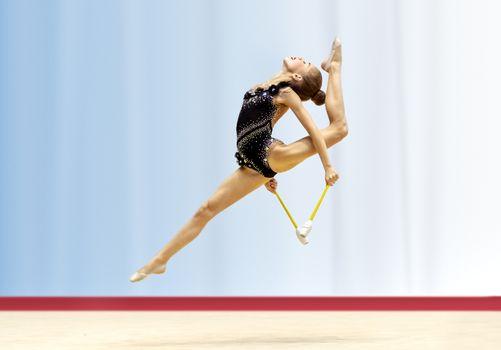 Rhythmic gymnastics competition