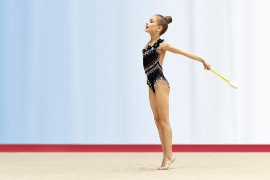 Little gymnast girl