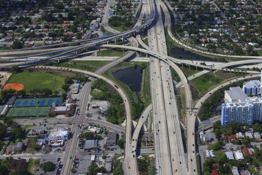 Roads junction in Miami