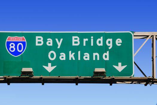 Highway sign for Oakland