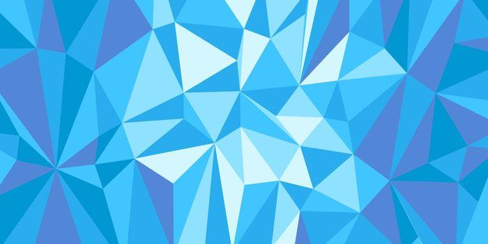 blue triangle background