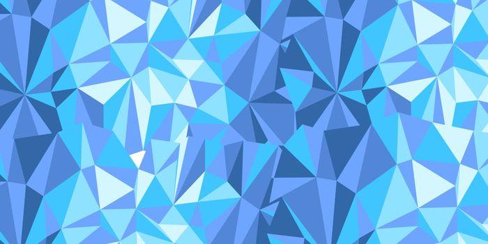 cyan triangle background
