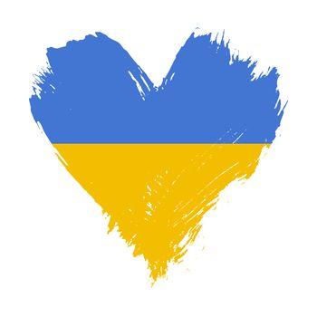 Brushstroke painted flag of Ukraine