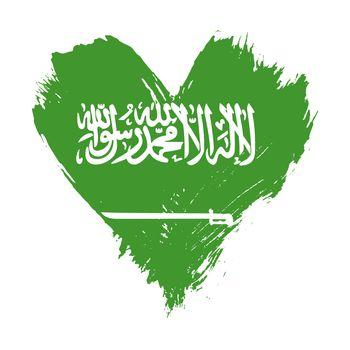 Brushstroke painted flag of Saudi Arabia KSA