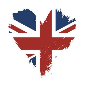 Brushstroke painted flag of United Kingdom