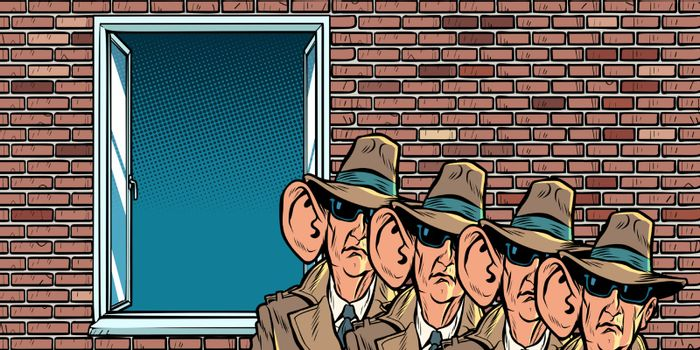 spy secret service of the state eavesdropping on residents