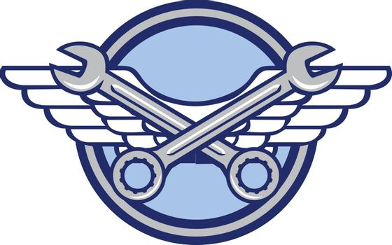 Crossed Spanner Air Force Wings Icon