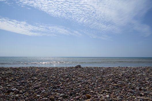 Coast of the Mediterranean in Puzol Valencia