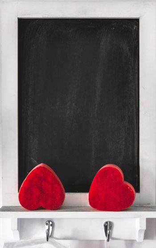 blackboard vertical background valentine day chalkboard framed empty .