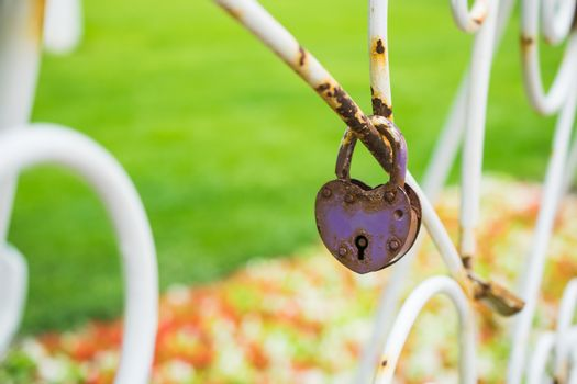 wedding tradition - locks on the bridge or fence