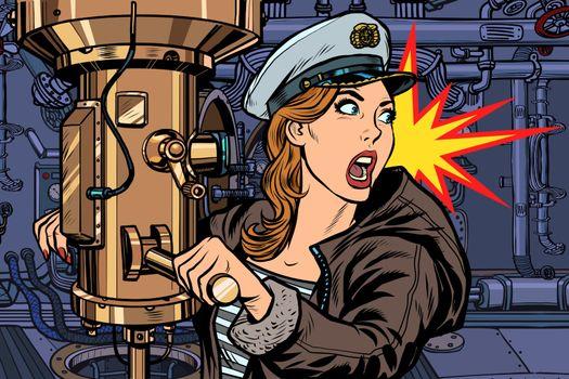 submarine a woman captain, battle alert