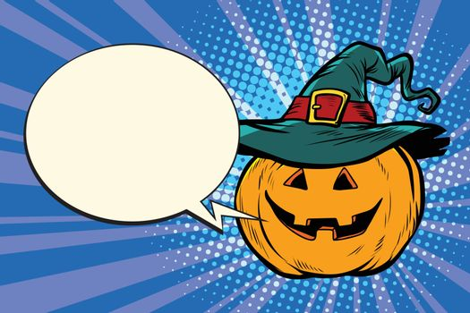 pumpkin Halloween comic bubble