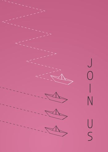 join us with a folded paper boat.