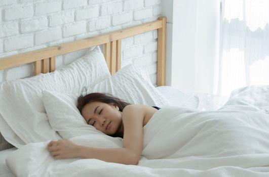 Women Sleep in room.