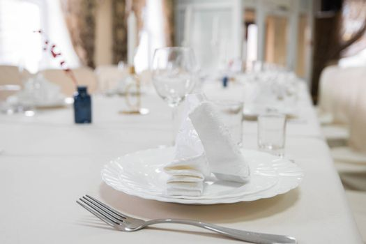 Close up detail of served table