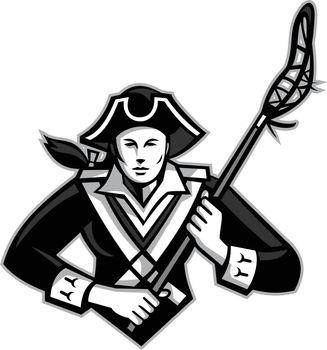 Girl Patriot Lacrosse Player Mascot