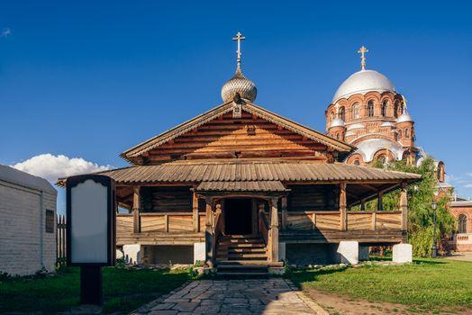 Entrance to the Holy Trinity Church in Sviyazhsk.