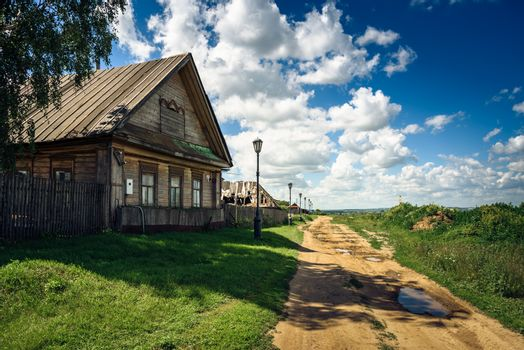 Traditional Rural House in Russia.