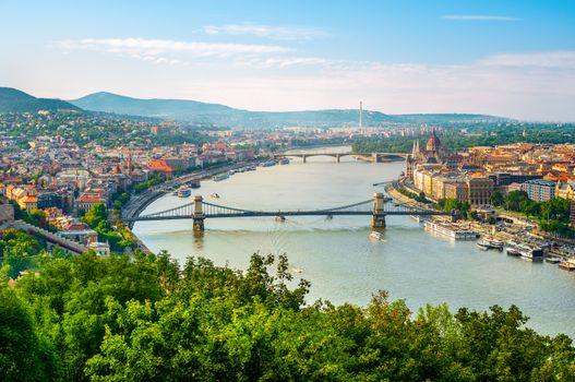 Budapest at sunset