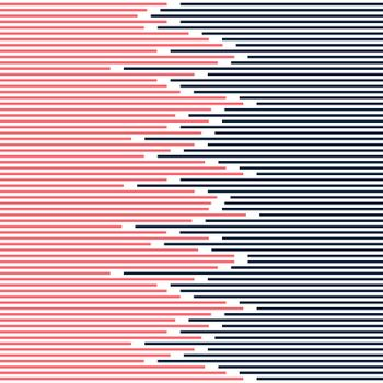 Abstract striped lines pattern dark blue and pink on white background texture minimal design. Vector illustration
