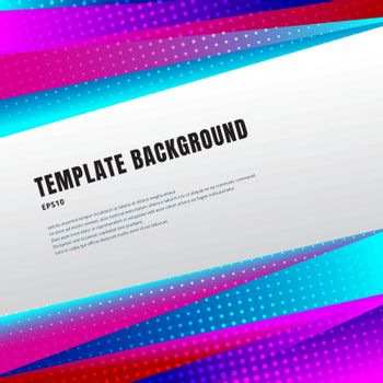 Abstract template header and footers colorful, prism or bright gradient color geometric triangles design with halftone on white background  and copy space. Decorative website layout or poster, banner, brochure, print, ad. Vector illustration