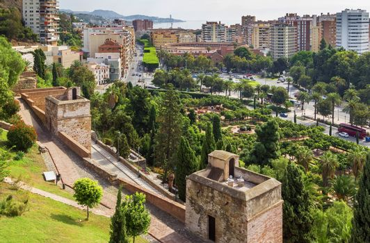 view of Malaga, Spain