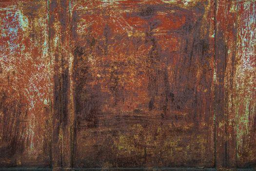 Rusty metal texture background. Vintage grunge effect.