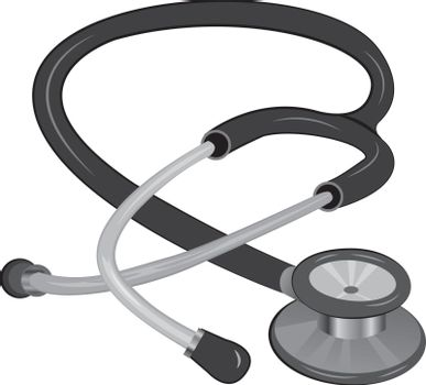 STETHOSCOPE vector illustration isolated on a white background