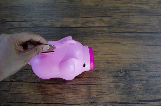 1 pig pink coin vending machine
