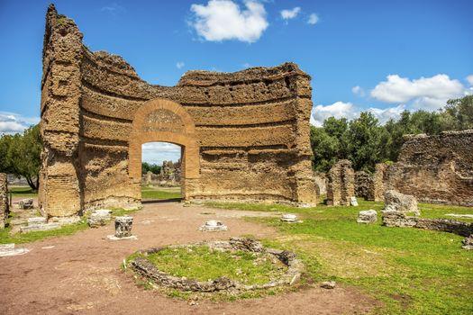roman ruins Villa Adriana in Tivoli Rome - Lazio - Italy .