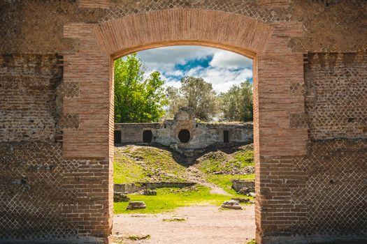 archaeology ruins roman civilization catacombs in Rome Tivoli - Lazio - Italy .