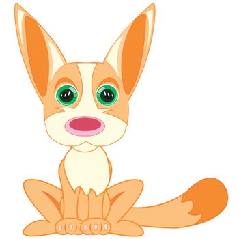 Vector illustration of the cartoon small exotic animal