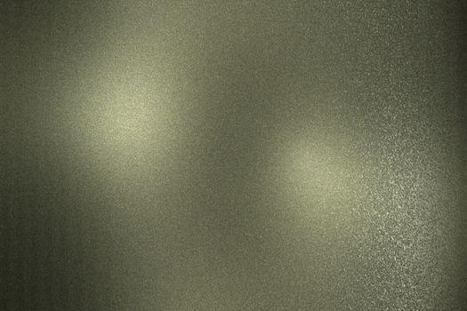 Rough dark green metallic sheet, abstract texture background