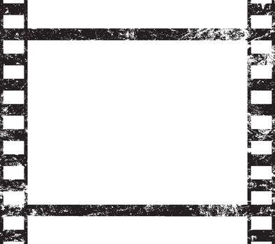 One old vintage frame of retro filmstrip
