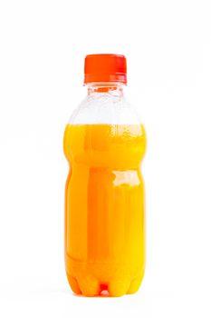 Orange juice in a bottle
