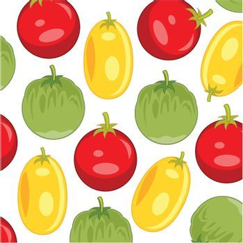 Vector illustration from tomato of the sort yellow ,red and green