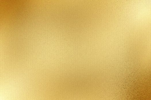 Glowing gold metallic thin sheet, abstract texture background