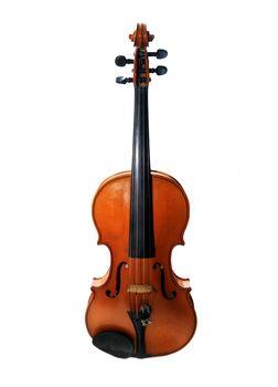 1937 old violin in studio close up