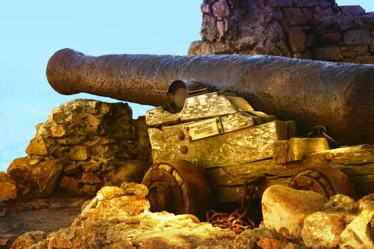 17th century cannon in Tosse, Spain